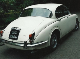 Classic Daimler for wedding hire in Yeovil
